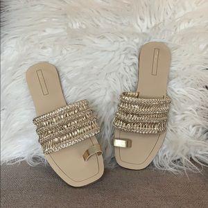 Woman's Gold Tahari Sandals